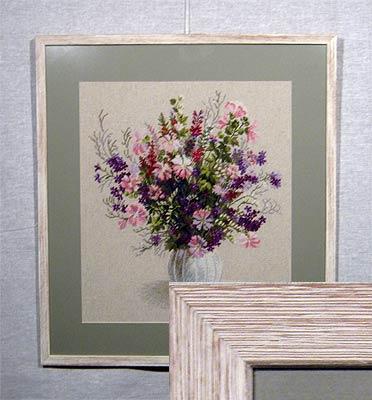 Вышивка полевые цветы 50 0х44 0 рамка